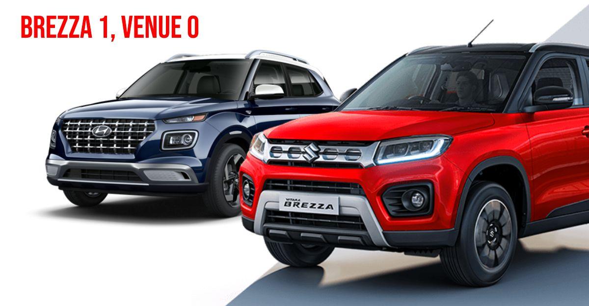 Maruti Brezza Hyundai Venue को हराता है: Tata Nexon की Kia Sonet से ज्यादा बिक्री होती है