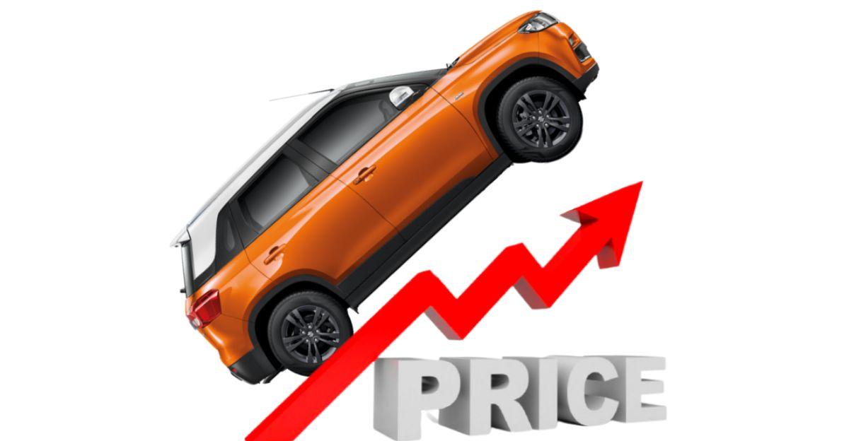 Maruti Suzuki Vitara Brezza, WagonR , Dzire & अन्य कारों पर मूल्य वृद्धि की घोषणा करती है