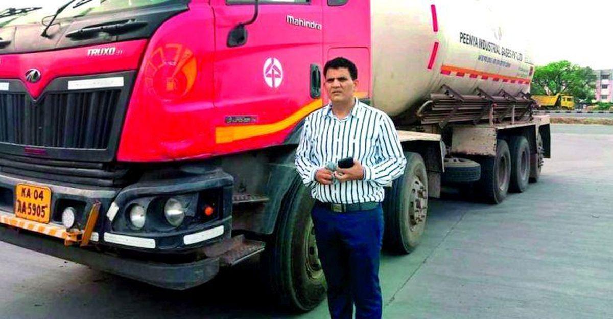 ट्रांसपोर्टर COVID प्रभावित लोगों को मदद करने के लिए 400 टन ऑक्सीजन की आपूर्ति के लिए 85 लाख रुपये खर्च करता है