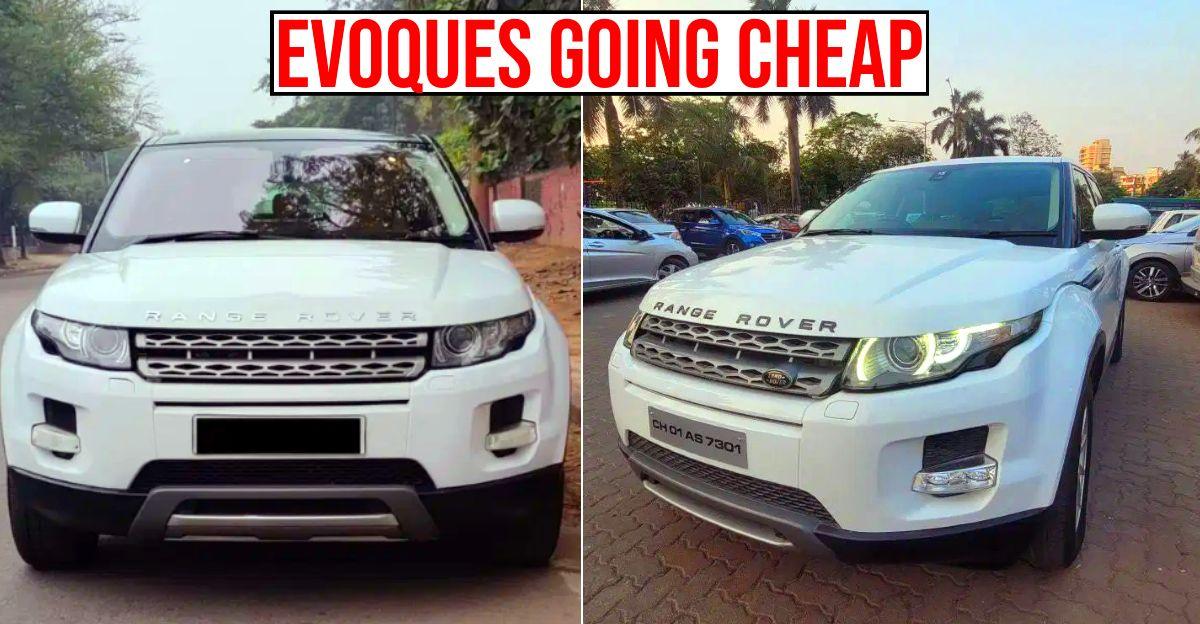 4 Range Rover Evoque Luxury SUVs बिक्री के लिए: कीमतें 15 लाख से शुरू होती हैं