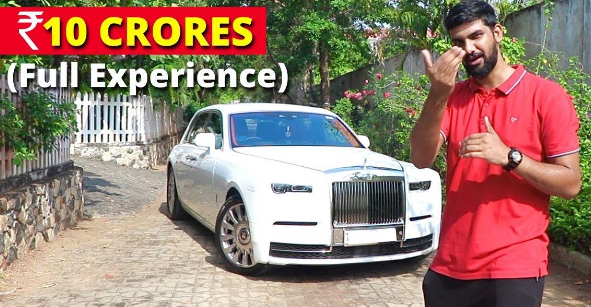देखिए 10 करोड़ रुपये की Rolls Royce Phantom सुपर लग्जरी कार कैसी महसूस होती है
