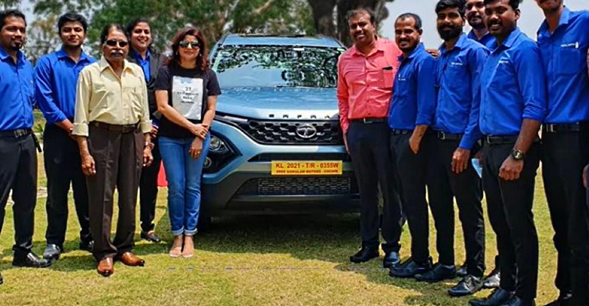 मलयालम मूवी स्टार Prithviraj की पत्नी Supriya ने All-new Tata Safari की डिलीवरी ली