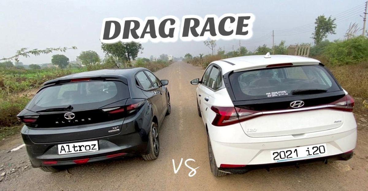 Tata Altroz बनाम 2020 Hyundai i20 ड्रैग रेस में