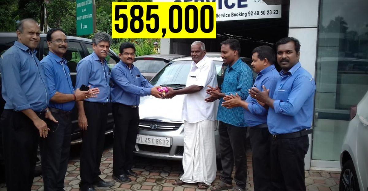 Tata Indica Diesel 5.85 लाख किलोमीटर Odometer पर बिना किसी इंजन के काम को किये