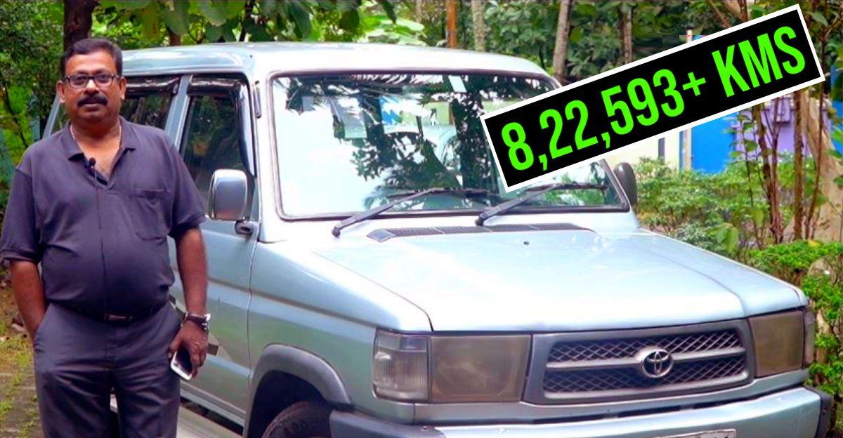बिना किसी इंजन की समस्या के Toyota Qualis ने 8 लाख किलोमीटर से अधिक की दूरी पूरी की