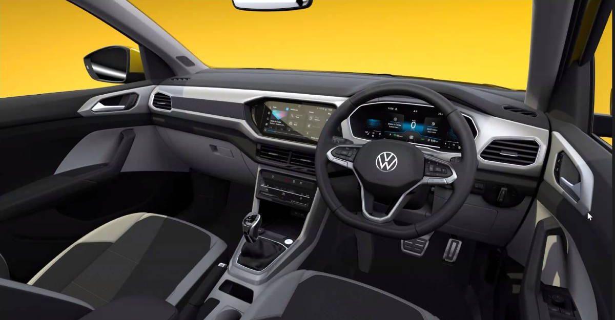Volkswagen Taigun इंटीरियर एक डिजिटल प्रस्तुत के माध्यम से पता चला