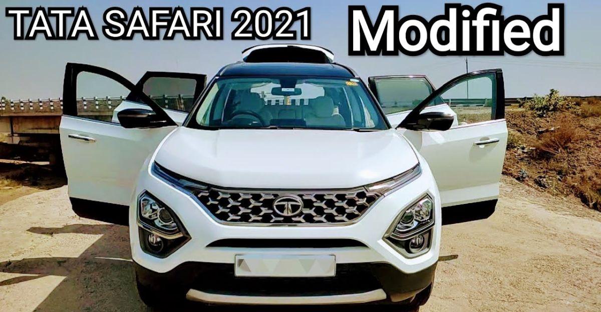 New Tata Safari subtle रैप  के साथ Classier Look