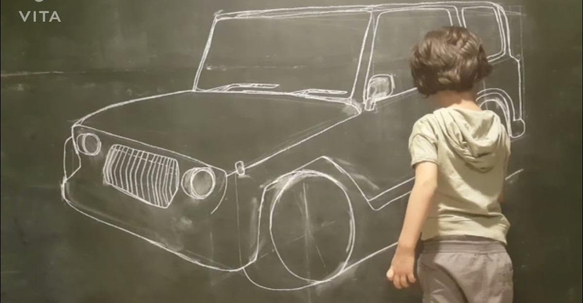 5 साल के बच्चे ने नई Thar का स्केच बनाया: Anand Mahindra प्रभावित