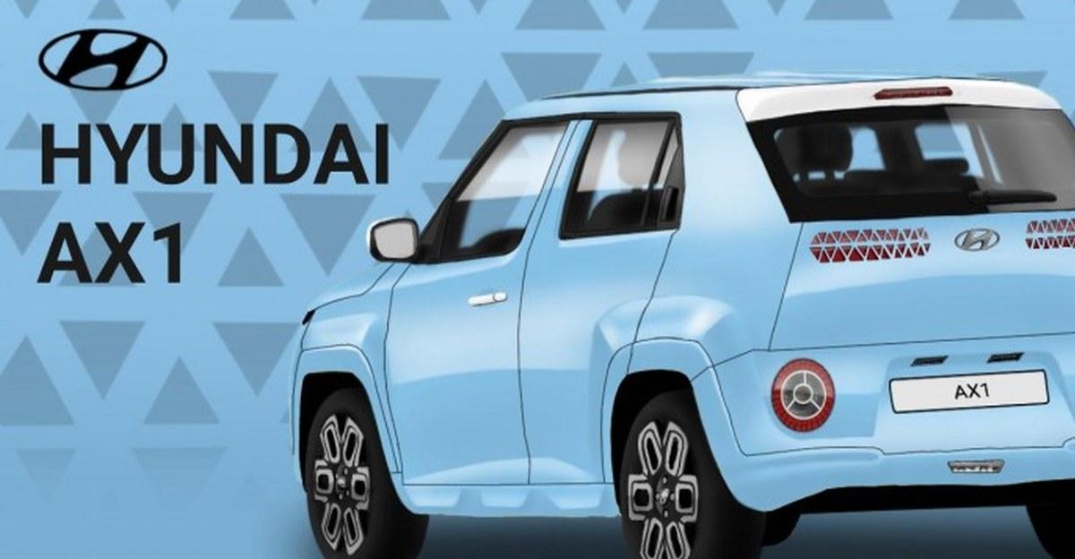 Hyundai AX1 माइक्रो एसयूवी: Maruti S-Presso की प्रतिद्वंद्वी के सामने और पीछे के डिजाइन की कल्पना