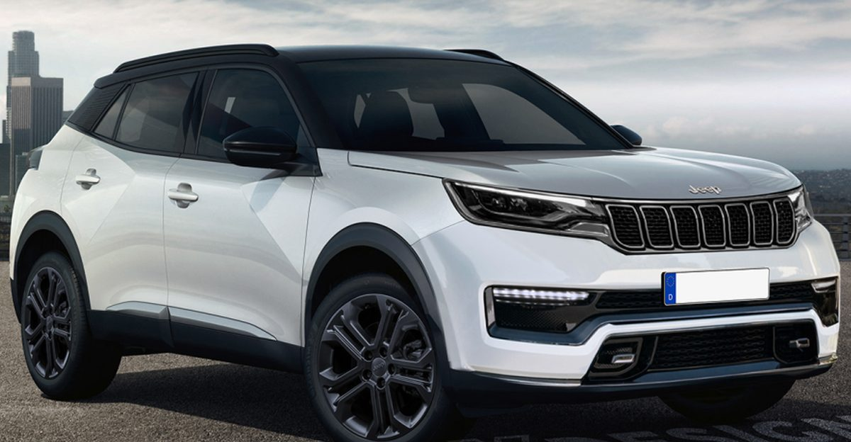 Jeep Junior compact-SUV लॉन्च से पहले रेंडर की गई: Kia Sonet को टक्कर देगी