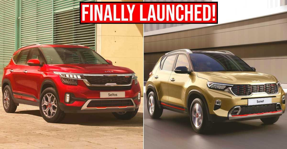 2021 Kia Sonet & Seltos SUV Facelifts को नए वेरिएंट के साथ लॉन्च किया गया, सेगमेंट में पहली फीचर्स