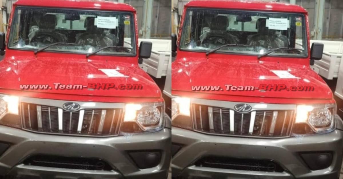 2021 Mahindra Bolero में चमकदार लाल दोहरे रंग का विकल्प