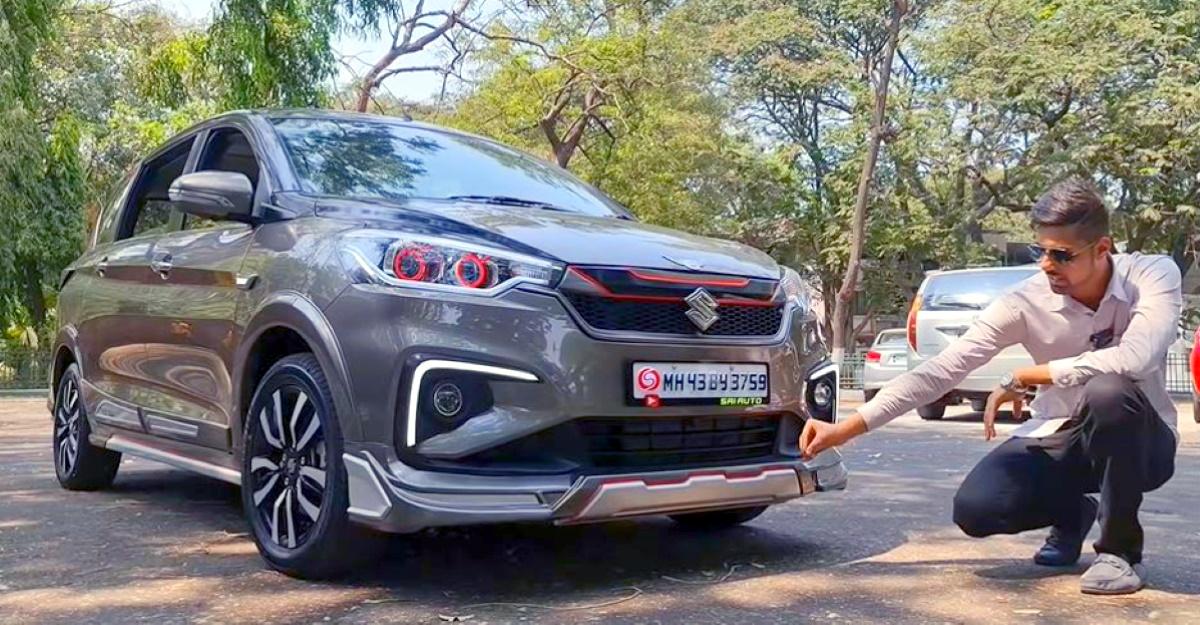 Electric Sunroof के साथ संशोधित भारत की पहली Maruti Suzuki Ertiga MPVs साफ-सुथरी दिखती है