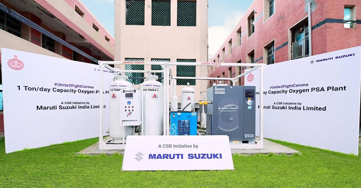 Maruti Suzuki ने 3 oxygen generators दान किए: हरियाणा के मुख्यमंत्री ने उद्घाटन किया