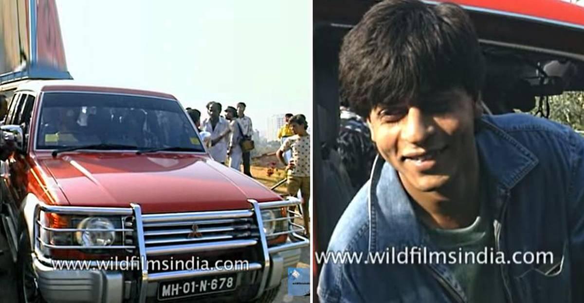 Shahrukh Khan की दुर्लभ फुटेज उनके Mitsubishi Pajero SFX में ड्राइविंग करते हुए