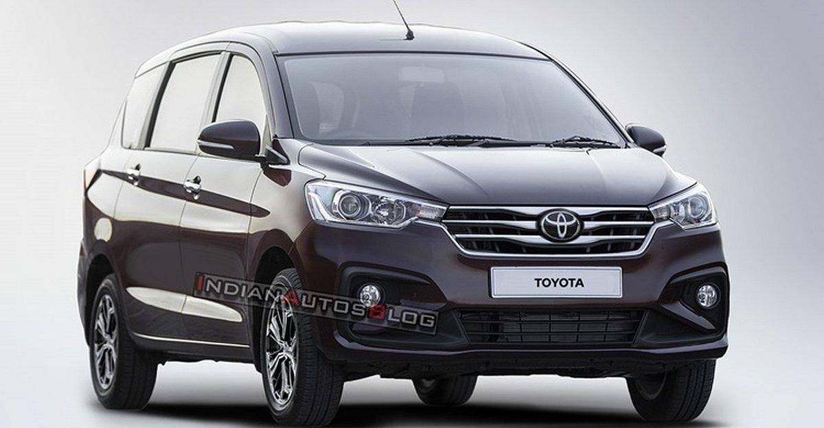 लॉन्च से पहले Toyota-Branded Maruti Suzuki Ertiga का रेंडर