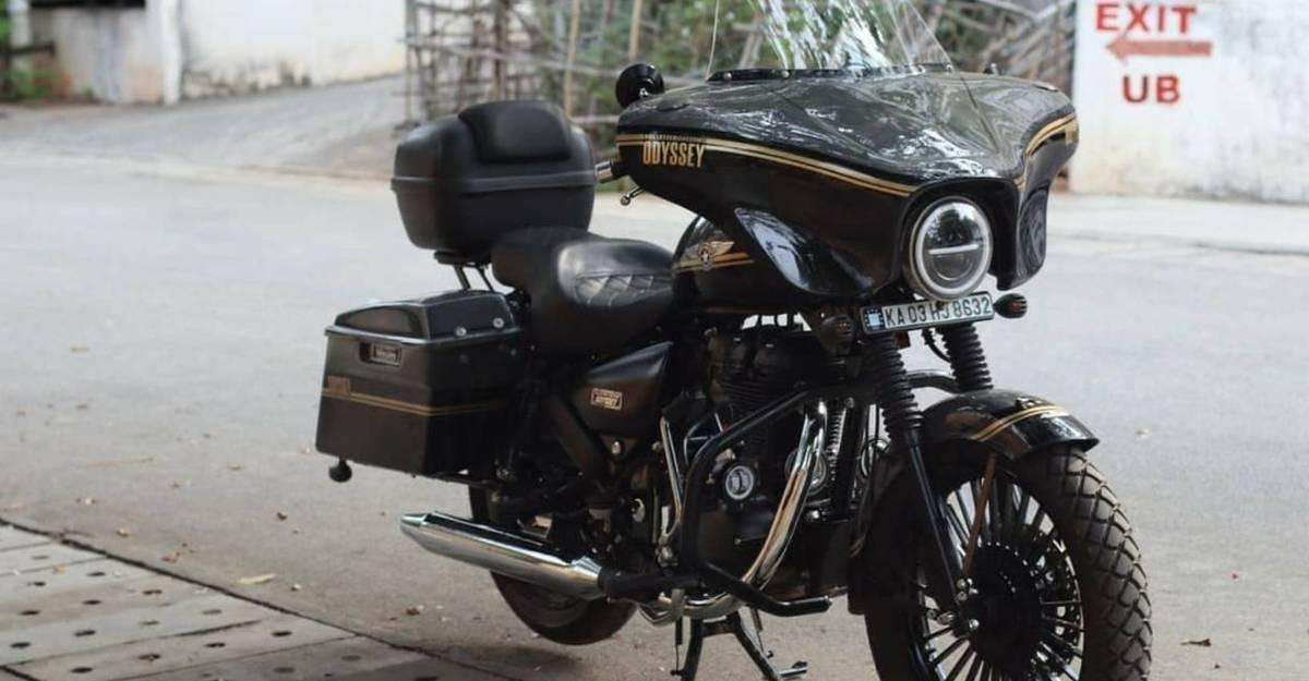 Royal Enfield Thunderbird Harley-Davidson CVO की तरह दिखने के लिए संशोधित किया गया