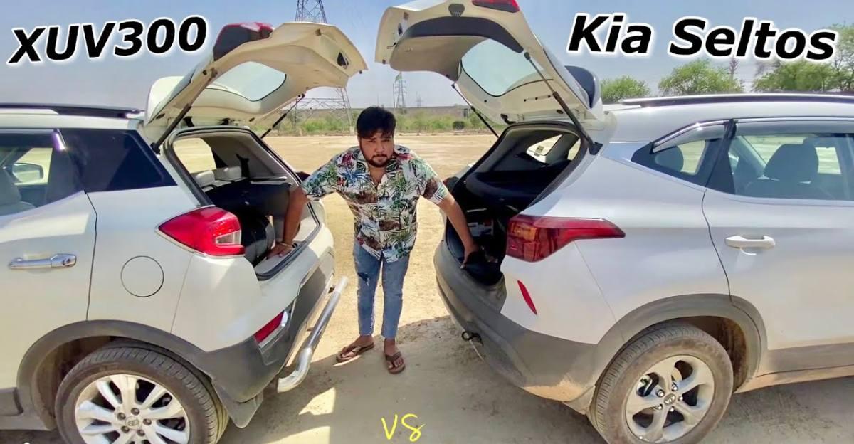 Kia Seltos Diesel बनाम Mahindra XUV300 डीजल एक रस्साकशी के दौरान [Video]
