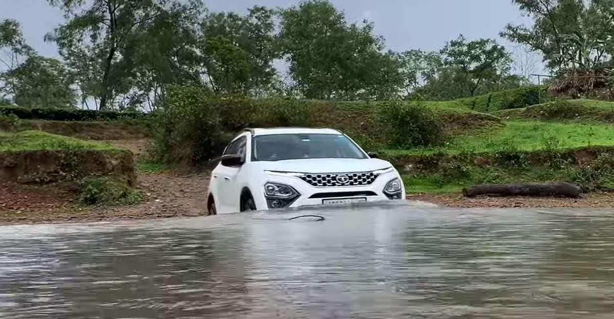 नई Tata Safari को नदी पार करते हुए देखें [वीडियो]