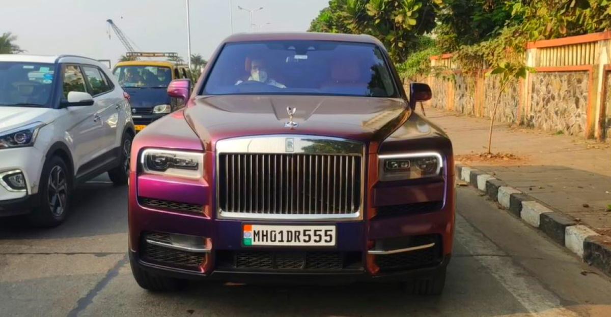 मुकेश अंबानी ने अपने दूसरे Rolls Royce Cullinan में psychedelic wrap लगाया, पहली वाली की तरह