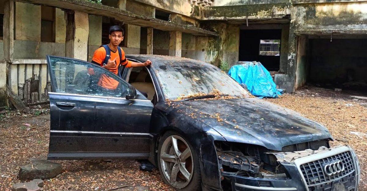 1 करोड़ से अधिक मूल्य की छोड़ी हुई Audi A8 L: अंदर बाहर से छान-बीन