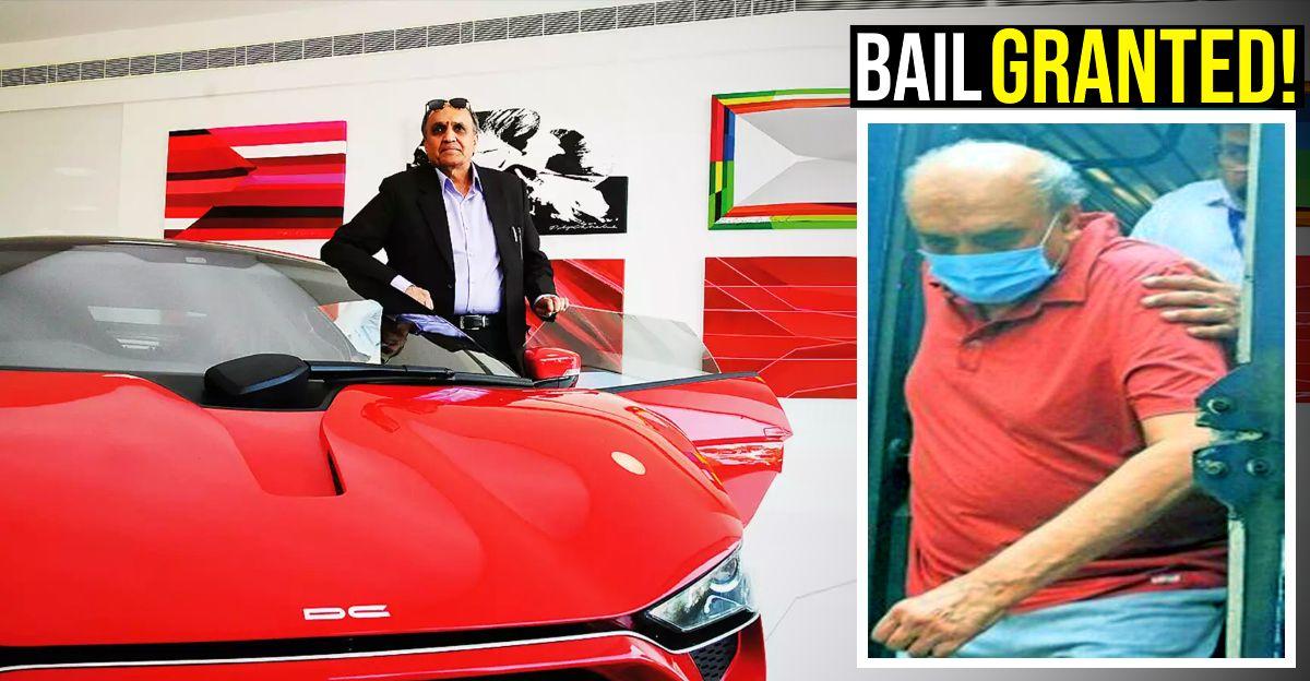 कार डिजाइनर Dilip Chhabria को 22 करोड़ रुपये की धोखाधड़ी के मामले में जमानत मिली
