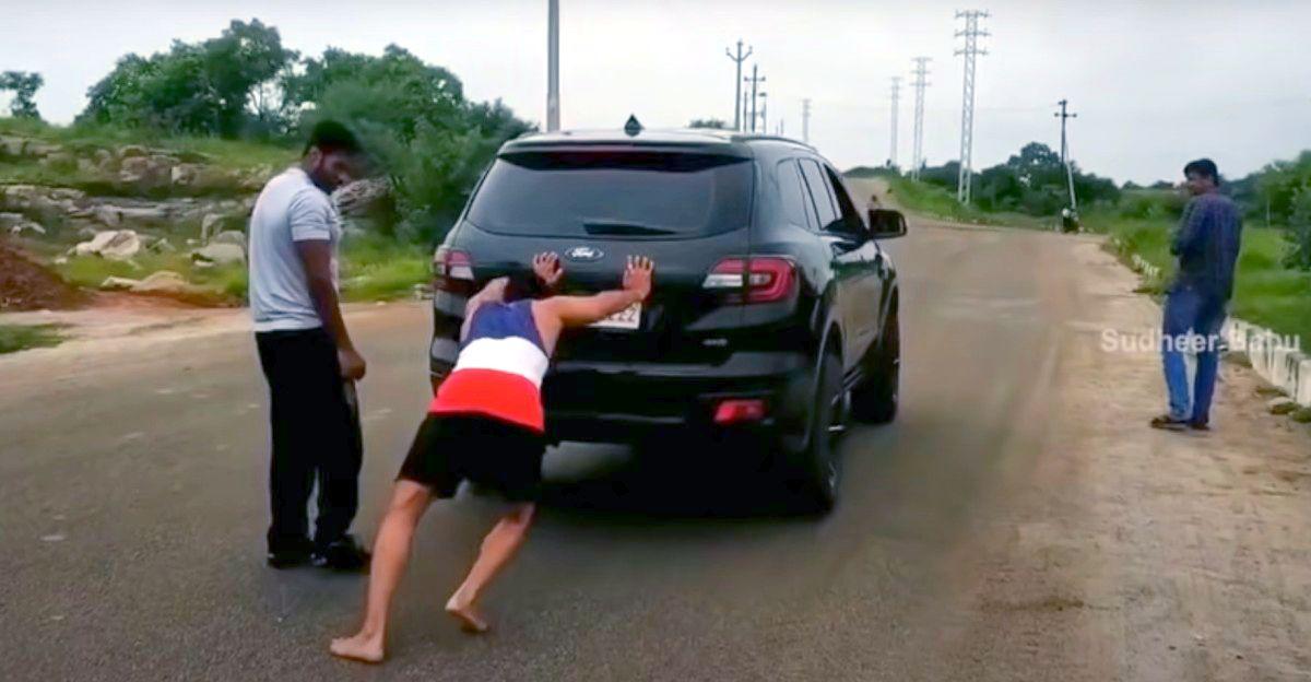 अभिनेता के वर्कआउट रूटीन में Ford Endeavour को ऊपर की ओर धकेलना शामिल है [वीडियो]