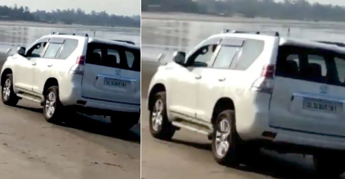 दिल्ली पर्यटक ने गोवा लॉकडाउन को तोड़ा और समुद्र तट पर Toyota Landcruiser Prado चलाया: गिरफ्तार, SUV जब्त