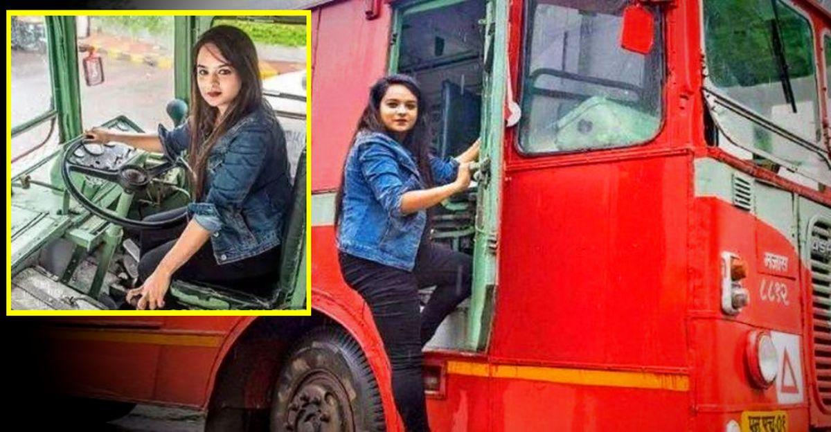 25 साल की मैकेनिकल इंजीनियर बनीं मुंबई की पहली महिला बस ड्राइवर!