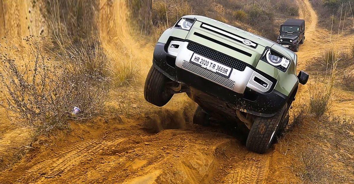 भारत में बिलकुल नई Land Rover Defender ऑफ रोडिंग से पता चलता है कि यह इतनी प्रसिद्ध क्यों है
