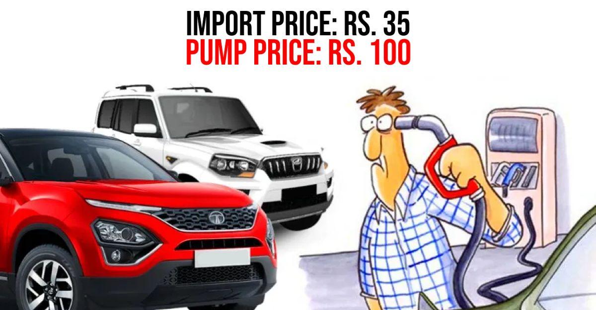 पेट्रोल की कीमतें मुंबई में 100 रु/लीटर के पार: आप प्रति लीटर पेट्रोल और डीजल पर कितना टैक्स देते हैं