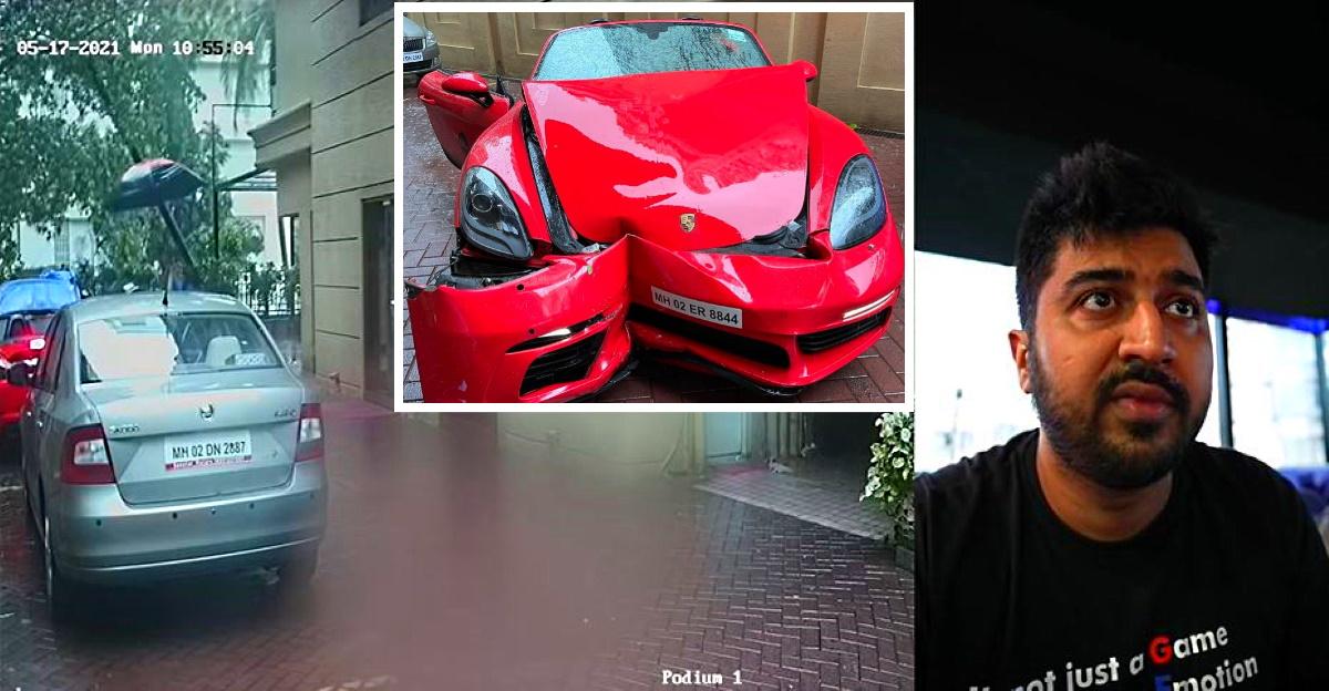 Cyclone Tauktae के दौरान Porsche 718 Boxster दुर्घटना: मालिक ने CCTV फुटेज साझा किया