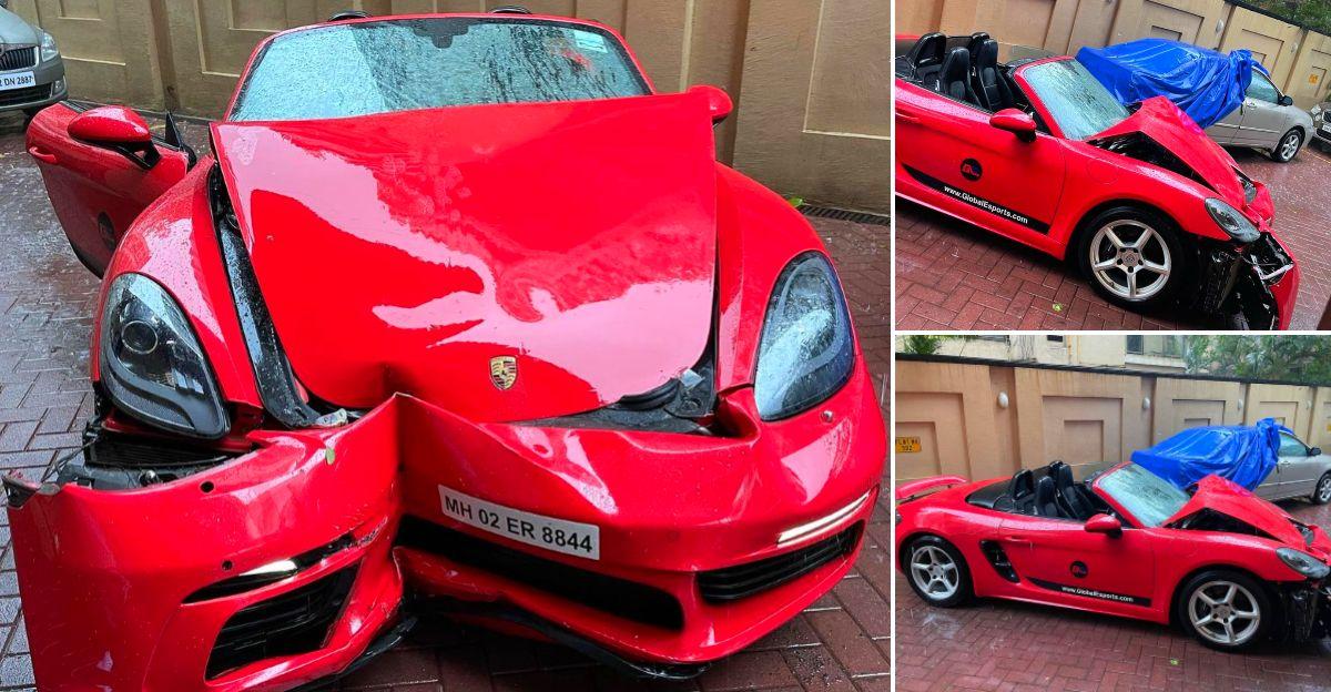 मुंबई में Cyclone Tauktae: CEO का कहना है कि उसका Porsche 718 Boxster इसका शिकार हुआ है