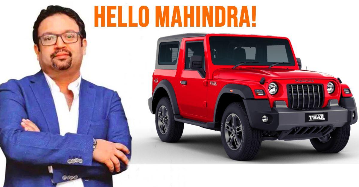 Tata Motors के पूर्व प्रमुख डिजाइनर Pratap Bose UK से Mahindra के डिजाइन का नेतृत्व करेंगे