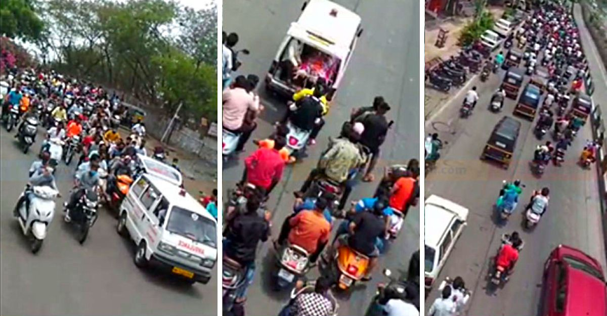 पुणे पुलिस ने 40 वाहनों को जब्त किया, 80 को गिरफ्तार किया एक अपराधी के अंतिम संस्कार बाइक रैली में भाग लेने के लिए [Video]