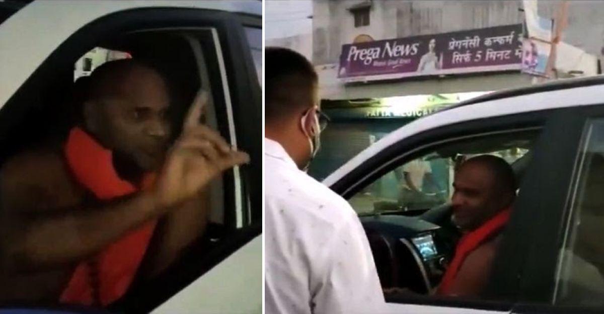 Mahindra XUV500 SUV में धार्मिक नेता ने Mask पहनने से किया इनकार: कार्रवाई के लिए चुनौती