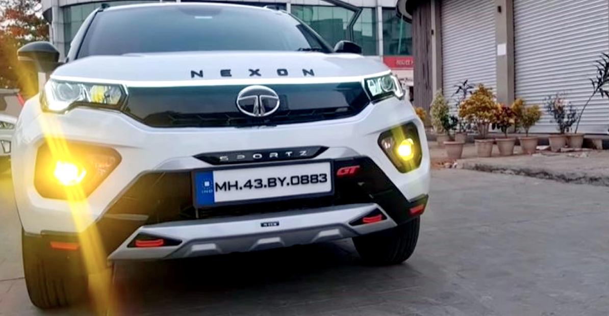 Tata Nexon XMS आफ्टरमार्केट सामान के साथ संशोधित