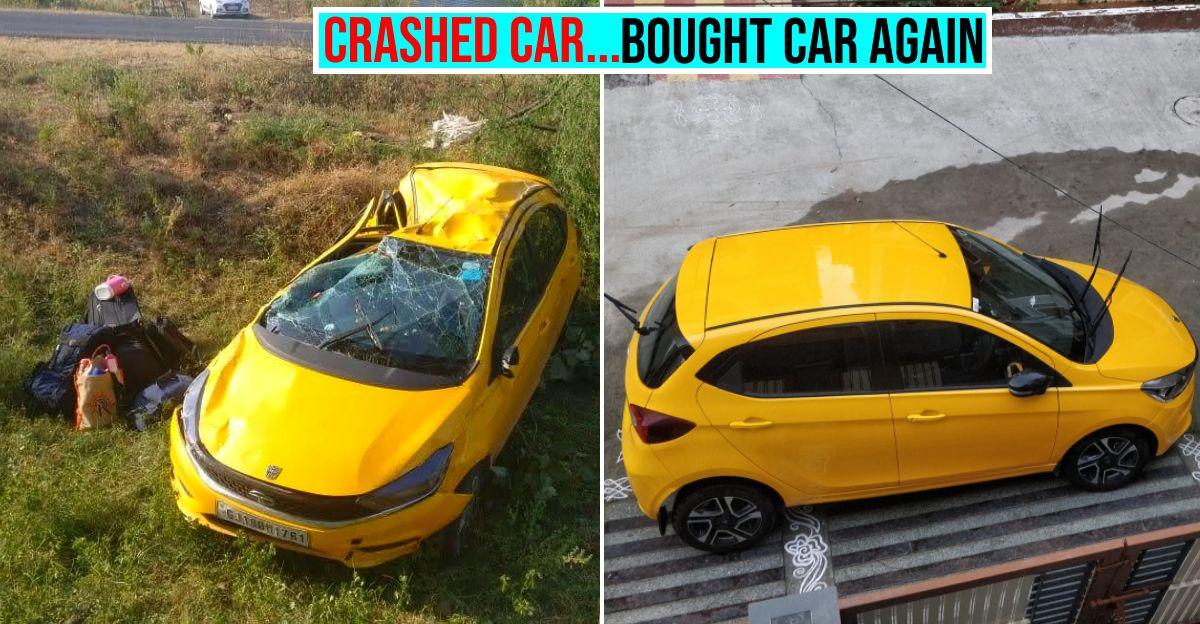 Tata Tiago मालिक कार की निर्माण क्वालिटी से संतुष्ट: बड़े क्रैश के बाद एक और Tiago खरीदी