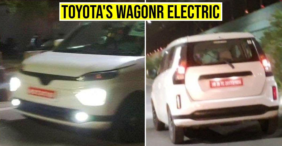 Toyota की Maruti Suzuki WagonR Electric संस्करण वाली हैचबैक को परीक्षण करते हुए देखा गया
