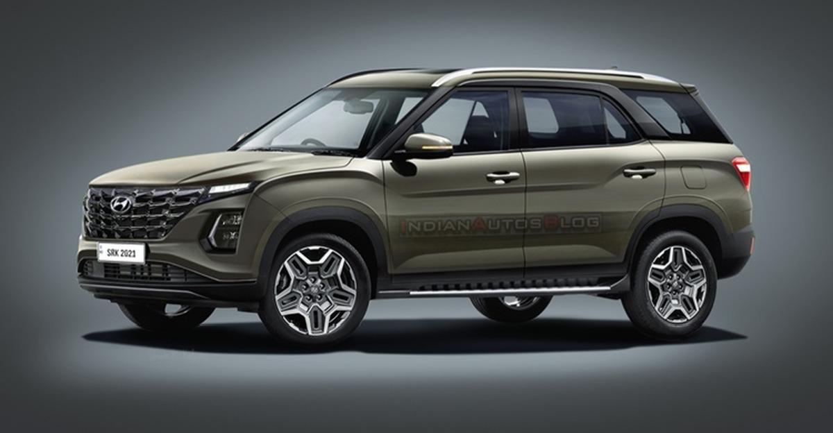 Creta Facelift से प्रेरित Hyundai Alcazar Facelift: यह कैसी दिखेगी