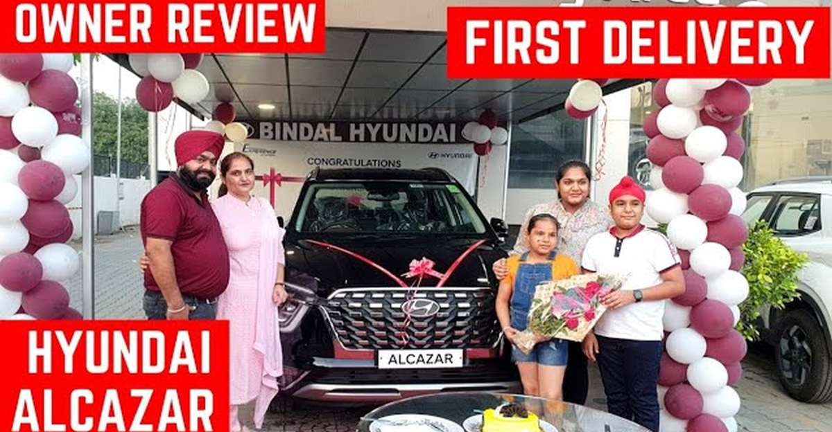 Hyundai Alcazar: Hyundai की लेटेस्ट 7-सीटर SUV की डिलीवरी लेते हुए [video]