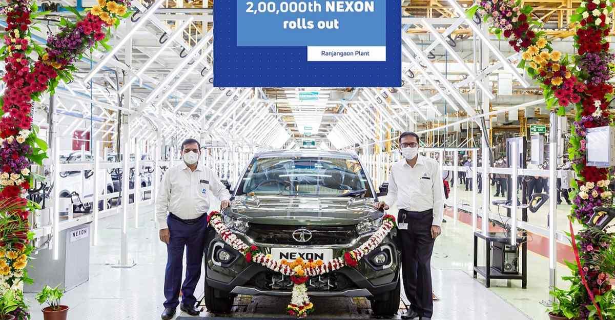 Tata Nexon: Tata-Fiat Ranjangaon कारखाने से 2,00,000वीं इकाई