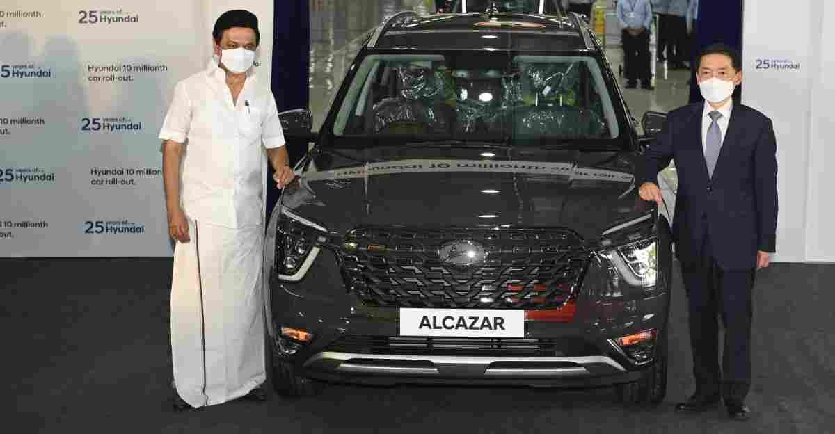 Alcazar भारत में Hyundai द्वारा निर्मित 10 लाखवीं कार बनी