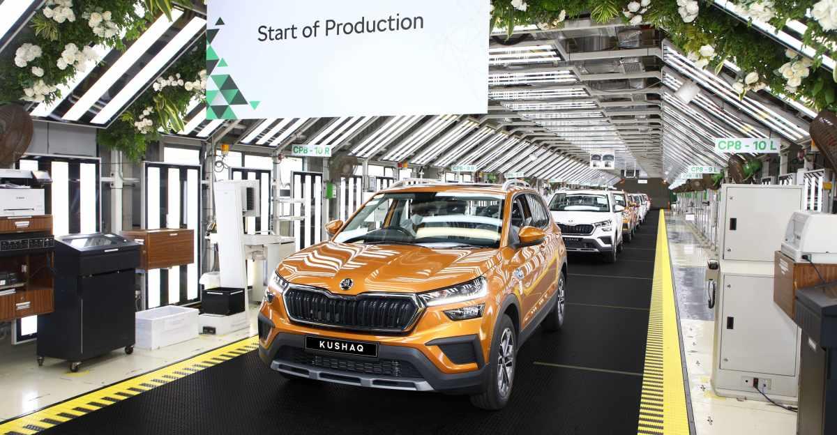 Skoda India ने KUSHAQ कॉम्पैक्ट एसयूवी का उत्पादन शुरू किया