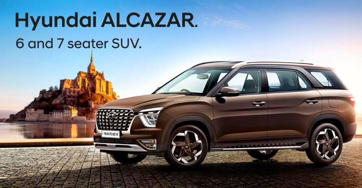 Hyundai Alcazar को छह वेरिएंट में लॉन्च किया जाएगा: विवरण लीक