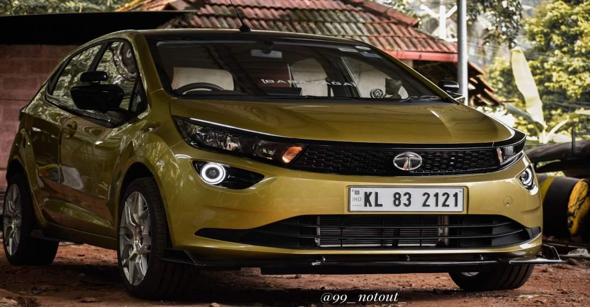 Tata Altroz में 17 इंच के Alloy wheels और Valvetronic exhaust के साथ मॉडिफाइड हॉट लग रहा है