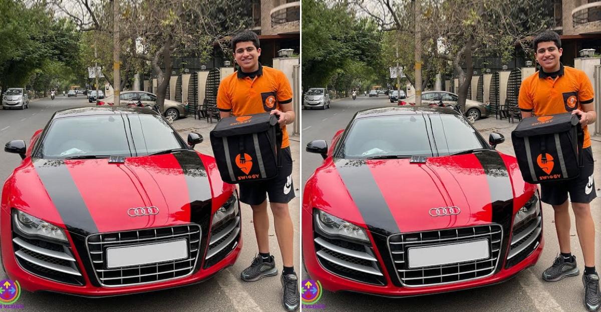 Audi R8 का मालिक Swiggy डिलीवरी बॉय बनकर अपनी सुपरकार में खाना पहुंचाता है