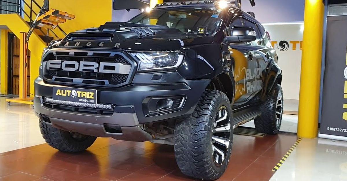 कई संशोधनों के साथ Ford Endeavour SUV खतरनाक दिखती है