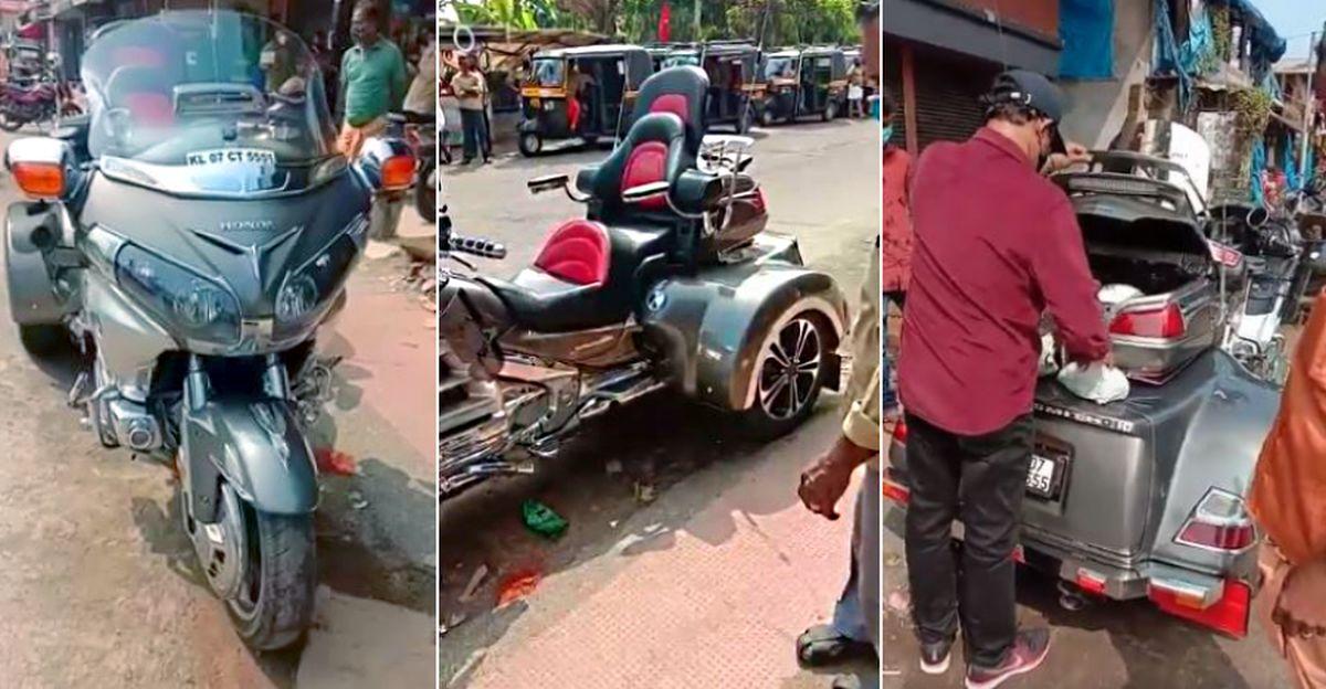 75 लाख रुपये की Honda Goldwing Trike पर सब्जी की खरीदारी