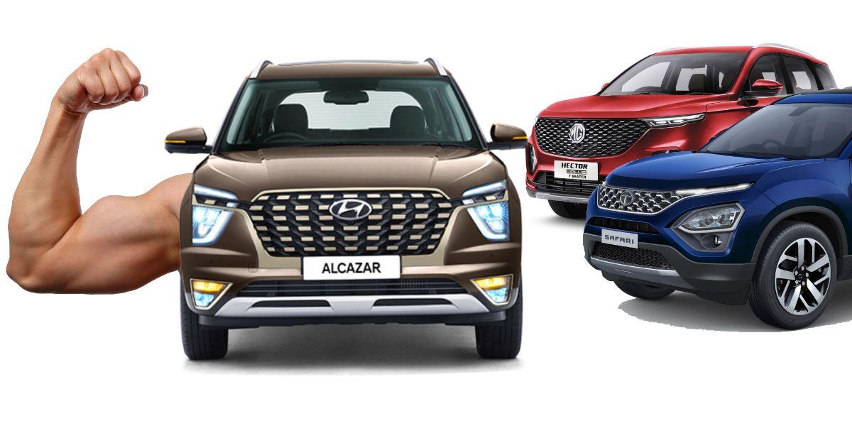 10 Hyundai Alcazar विशेषताएं जो Tata Safari/MG Hector प्रदान नहीं करती हैं